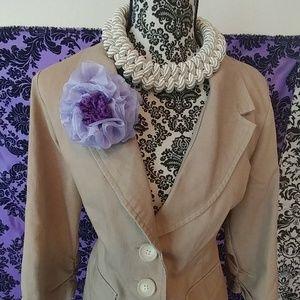 Purple handmade flower pin